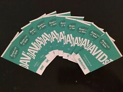 Lot Of 10 10 Off + One Cup Of Davids Tea Coupons Usa Stores Only No Expiration
