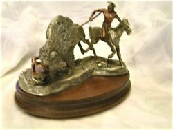 Peter Sedlow Saga On The Plains Pewter Sculpture Signed Numbered