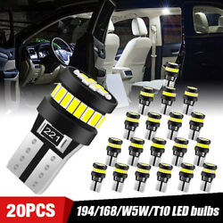 T10 194 168 W5w 5730 Led 24-smd White Side Wedge Light Bulb License Plate Trunk