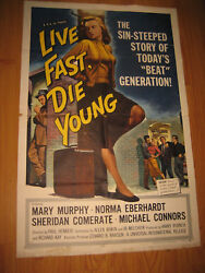 Live Fast, Die Young, Original 1sh Movie Poster