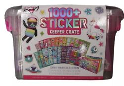 🦄 1000+ Ridiculously Cute Stickers W/ Keeper Crate Box Huge Variety Brand New🦋