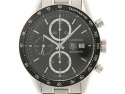 Tag Heuer Carrera Chrono Cv2010-4 Automatic Stainless Steel Menand039s Watch [b0110]