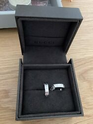 New Genuine 18ct White Gold Hoop Earrings With Box
