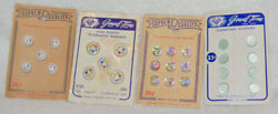 Vintage Jewel-tone Glass Buttons Original Card Us Zone Germany Supremequality