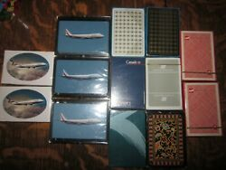 Lot Of 13 Unopened Deck Of Playing Cards Airlines Wardair Canadian Air Canada