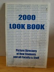 2000 Hanover College Look Book Picture Directory Of New Students Faculty Staff