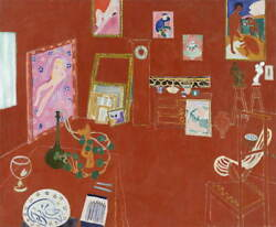 Henri Matisse The Red Studio Giclee Canvas Print Paintings Poster Large Size