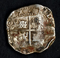 Lovely Pirate Treasure Cob And Spanish Colonial Silver 8 Reales Potosi Fr /tr 1642