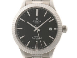 Tudor Automatic 12510 38mm Black Dial Stainless Steel Men's Watch [b0111]