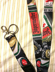 Jagermeister Advertising Lanyard W/ Detachable Clip And Key Ring Badge Holder