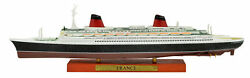 Atlas 11250 France Cruise Ship Model With Solid Wood Base Finished Boat Toy
