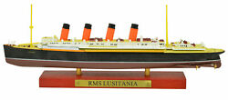 Atlas 11250 Lusitania Cruise Ship Model With Solid Wood Base Boat Toy Finished