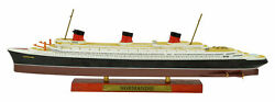 Atlas 11250 Normandie Cruise Ship Model With Solid Wood Base Boat Toy Finished