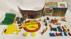 Lorenz Circus Kinderland Wooden Toys Circus Animals People Play West Germany Vtg