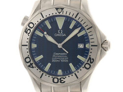 Omega Seamaster 300m 2255.80 Blue Dial Stainless Steel Menand039s Watch [b0112]
