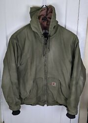 Heavyweight Tyndale Fr Fire Res. Work Jacket Lined Men 2xl Usa Made Distressed