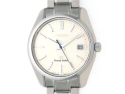 Grand Seiko Limited Sbgv005 Silver Dial Quartz Stainless Menand039s Watch [b0112]