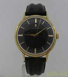 Used Gubelin 176347 Automatic Winding Mens Watch Gold Black No Accessories
