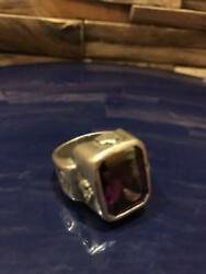 Used Royal Order Purple God Ring Purple Crystal Accessory Size No.19