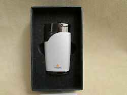 New Colibri Wind Resistant White Colored Lighter With Dual Flames