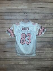 Reebok Nfl Youth Large Pittsburgh Steelers Jersey Heath Miller 83 Pink White Euc