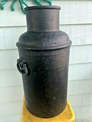 Antique Large Cast Iron 10 Gallon Milk Can Dairy Heavy Solid 25 Lbs 22 Ny Usa