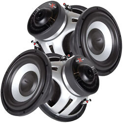 2x Soundxtreme St-1052 10 Inch 2200 Watts Car Audio Subwoofer With Dvc Power