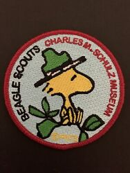 Charles M Schulz Museum Peanuts Beagle Scout Woodstock Patch New