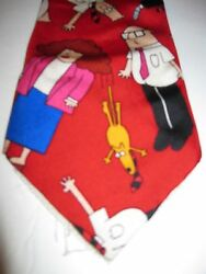 Rm Style Mania Menand039s Novelty Necktie Tie Red Dilbert Friends Dogbert Boss Wally
