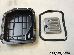Transmission Oil Pan And Filter For Jeep Grand Cherokee 4.0l 1993-2004 Atp/wj/008a