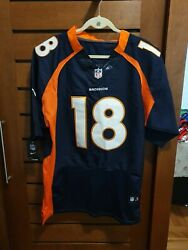 Peyton Manning 18 Denver Broncos Nike Jersey Size 44 On Field New W/ Tags