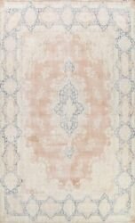 Muted Semi-antique Handmade Traditional Distressed Area Rug Low Pile Wool 10x13