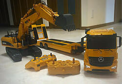 Trailers Radio Control Power Shovel R/c Set Toy Collectible Used Rare Jp Seller