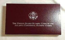 1995 Olympic Blind Runner/gymnastic Silver Proof 2-coin Set W/coa, Box, And Sleeve