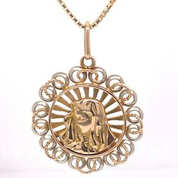 18kt Yellow Gold Mother Mary Necklace 16andrdquo Italy