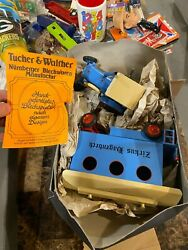 Zirkus Hagenbeck Circus Toy Tractor Tucher And Walther Tin Wind Up 500 Made Works