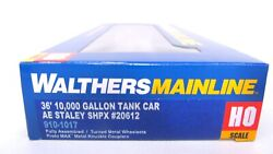 Walthers Mainline Ho Ae Staley Shpx 36' 10,000 Gallon Tank Tanker Car 910-1017