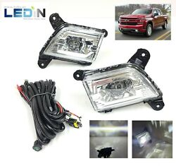 Led Fog Driving Lights For 19-21 Chevy Silverado 1500 Pair Set Lh Rh Wire Switch