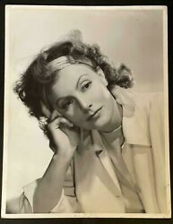 Greta Garbo Alluring Angelical Pose By Clarence Bull Double Weight Xxl Photo 375