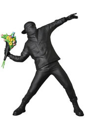Banksy Exhibition And03919 Flower Bomber Black Gesso Ver. Medicom Toy Brand New