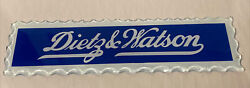 Vtg Dietz And Watson Deli Meat Reverse Painted Scalloped Glass Advertising Sign