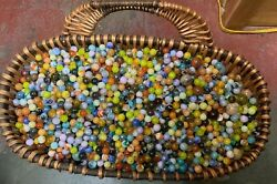 Estate Lot Of Glass Marbles Over 48 Lbs 2 Different Sizes