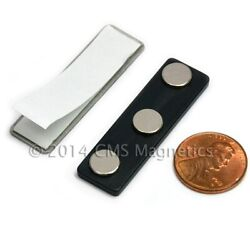 100 Sets Name Badge Magnets W/ Strong Neodymium Magnets - Magnetic Name Tags