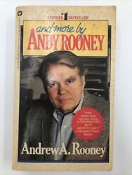 And More By Andrew Rooney 1983 Paperback Book With Personalized Letter Vtg