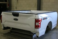 Oem Factory 15-21 F150 8and039 Long Bed New Take Off Aluminum White F-150 Truck Box