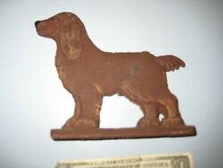 Vintage Painted Cast Aluminum Floopy Eared Dog Mailbox Gate Topper