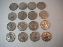 Lot Of 16 Vtg 1952 George Washington Medal Boy Scouts Coin Token Vote Campaign