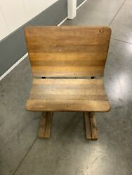 Antique Cast Iron And Wood Folding Chair Buffalo Hardware Co 3
