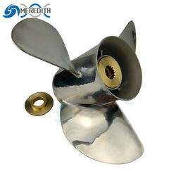 Stainless Steel-outboard-propeller 13-1/2x15 For Johnson 40-140hp 763950 13t