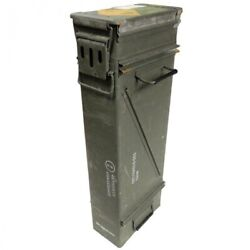 Military Issued Large Mortar Ammo Box Metal Storage Container Tool Box